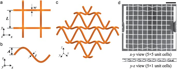 Harnessing out-of-plane deformation to design 3D architected lattice