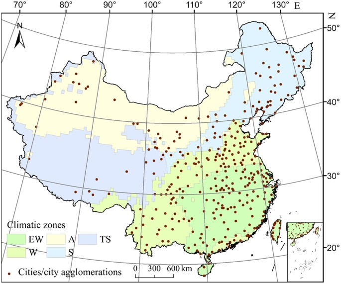Climate Zone Map Of Asia.Assessing The Relationship Between Surface Urban Heat Islands And