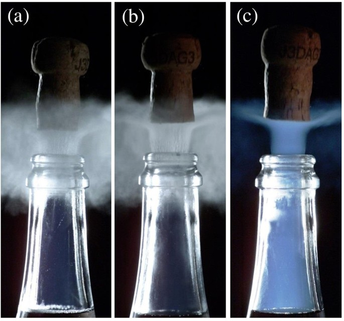 Flexa Early Dew 1070.Unveiling Co 2 Heterogeneous Freezing Plumes During Champagne Cork