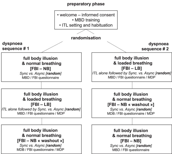 Interferences between breathing, experimental dyspnoea and
