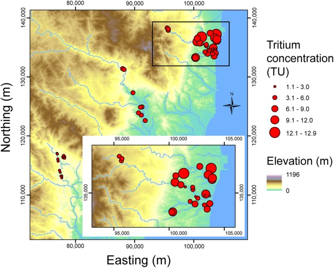 Tritium age dating groundwater