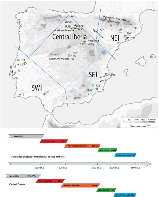 Iberia World Map.The Maternal Genetic Make Up Of The Iberian Peninsula Between The