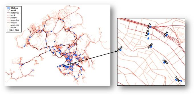Understanding heat patterns produced by vehicular flows in urban ...