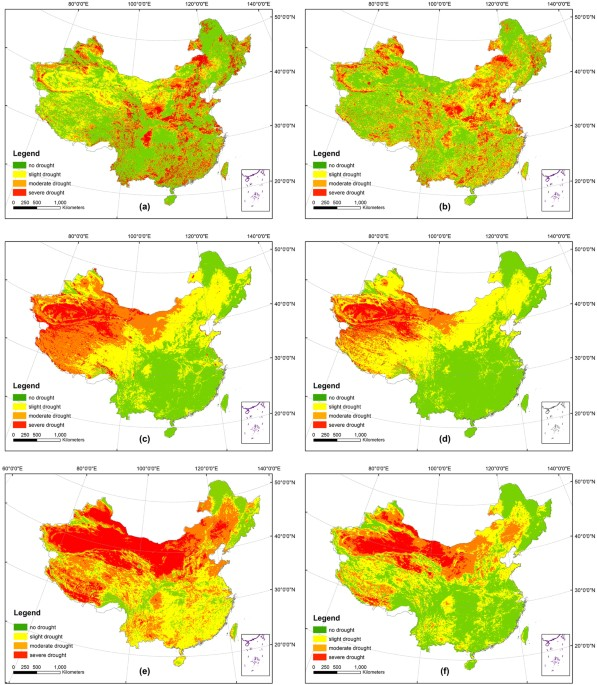 Spatial-Temporal Variation of Drought in China from 1982 to 2010 ...
