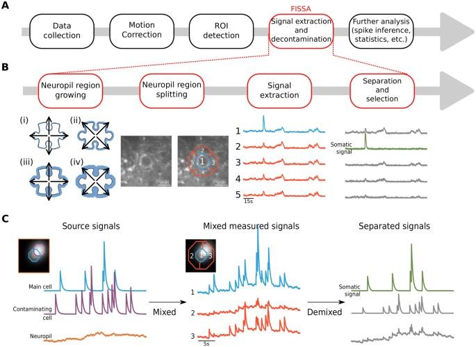 FISSA: A neuropil decontamination toolbox for calcium imaging