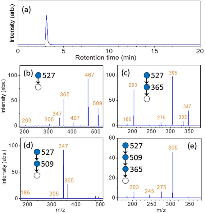 Simple method for de novo structural determination of underivatised a tic chromatogram of panose obtained through the online coupling of hplc with esi ms be cid spectra obtained according to the logical procedures of ccuart Images