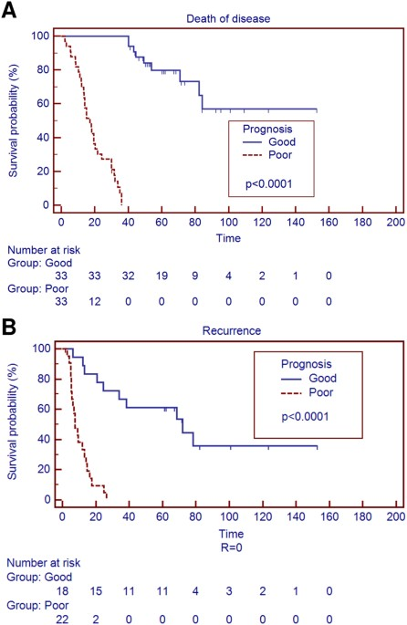 Genetic alterations analysis in prognostic stratified groups