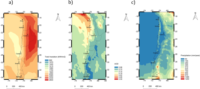 Paper World Map Sse.Effects Of Soiling On Photovoltaic Pv Modules In The Atacama