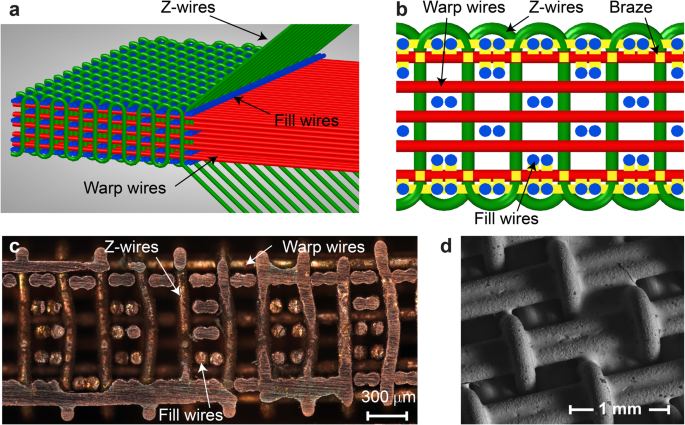 Damping Of Selectively Bonded 3d Woven Lattice Materials