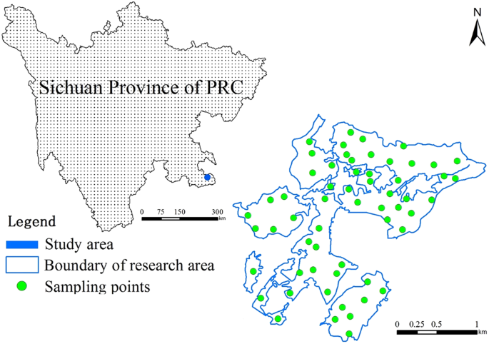 Digital mapping and spatial characteristics analyses of