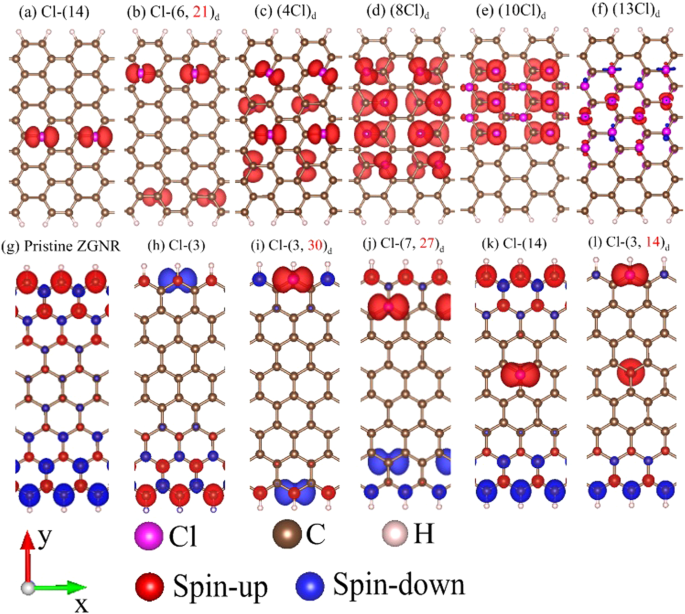 Diverse Electronic and Magnetic Properties of Chlorination-Related Graphene Nanoribbons