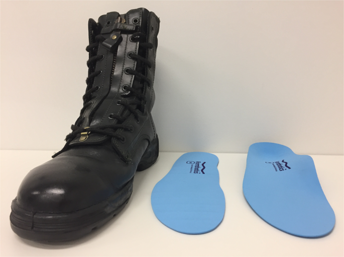 Effects Of A Contoured Foot Orthosis And Flat Insole On Plantar Pressure And Tibial Acceleration While Walking In Defence Boots Scientific Reports