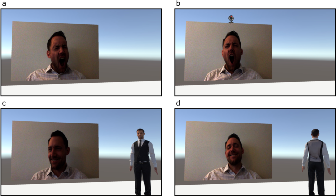 Contagious yawning in virtual reality is affected by actual, but not simulated, social presence