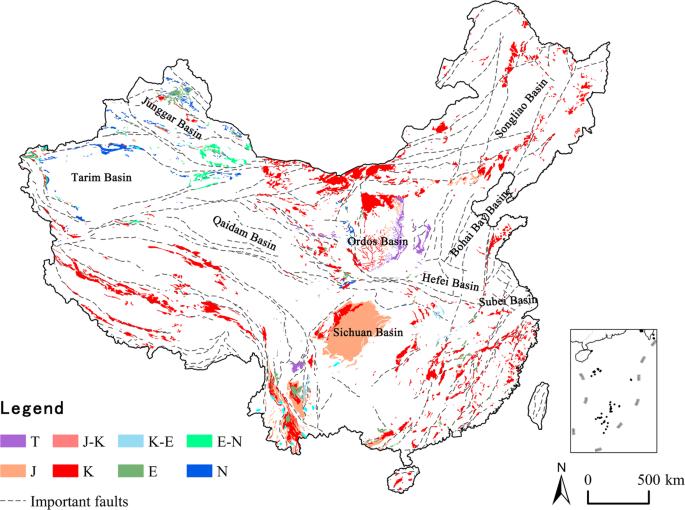 The Spatial Patterns of Red Beds and Danxia Landforms ... on seto inland sea map, china map, tibetan plateau map, huang he river map, gobi desert map, turpan depression map, sea of japan map, greater khingan mountains map, manchurian plain map, himalayas map, tarim basin map, taklamakan desert map, altun shan map, xi river map, mekong river map, three gorges dam map, qaidam basin map, brahmaputra river map, yellow river map, turfan depression on map,