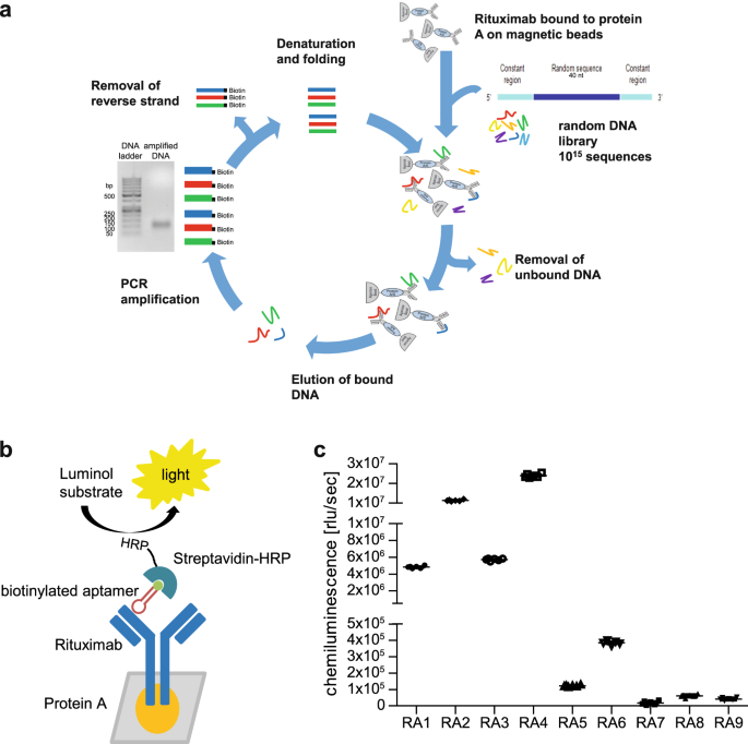 Aptamers as quality control tool for production, storage and