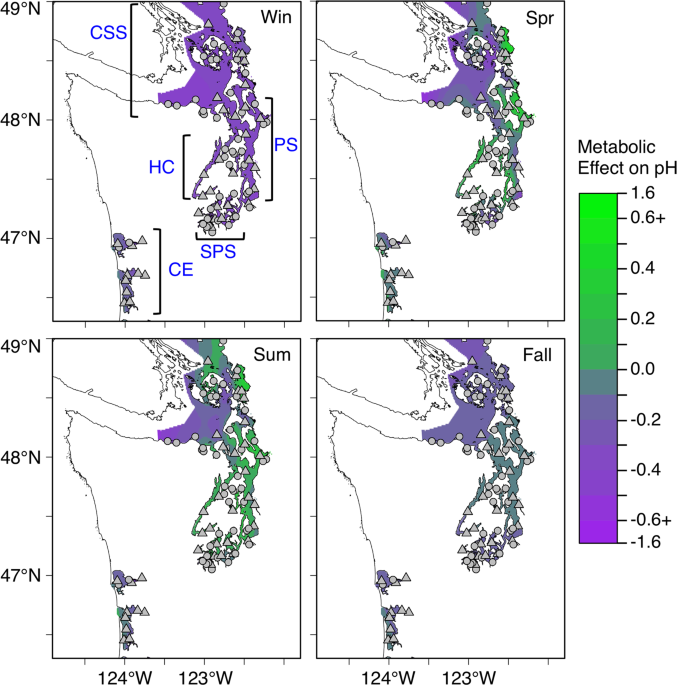 Ecosystem metabolism drives pH variability and modulates long-term ocean acidification in the Northeast Pacific coastal ocean