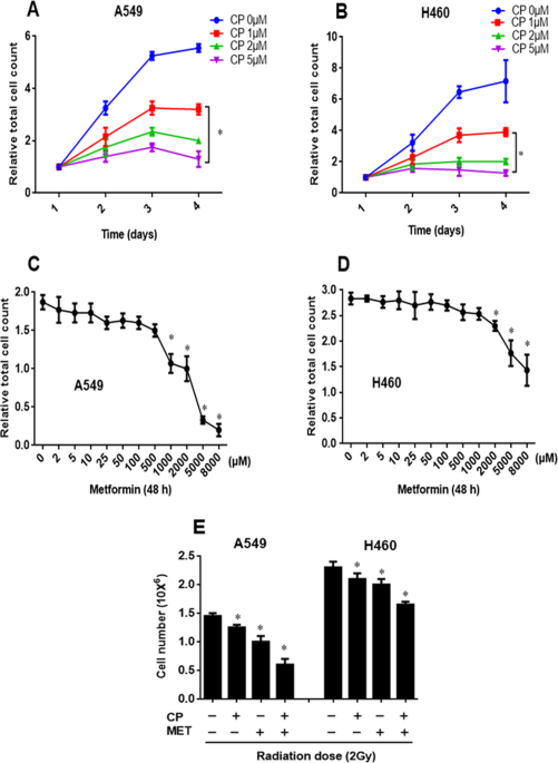 Metformin Enhances The Radiosensitizing Effect Of Cisplatin In Non Small Cell Lung Cancer Cell Lines With Different Cisplatin Sensitivities Scientific Reports