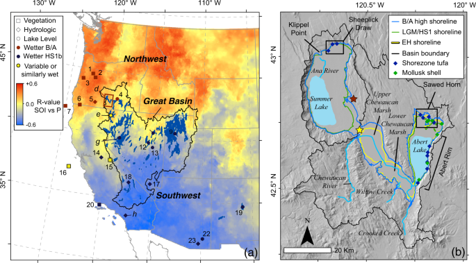 North-south dipole in winter hydroclimate in the western United