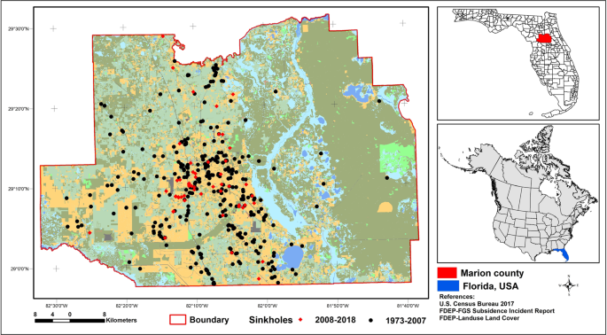 Sinkhole susceptibility mapping in Marion County, Florida ...
