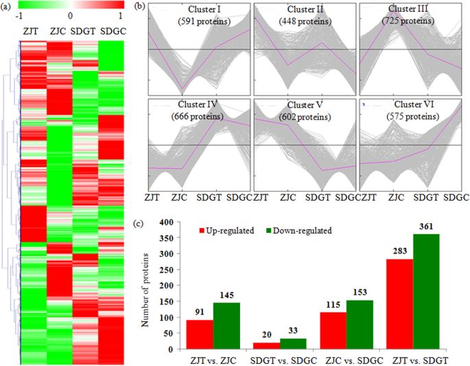 Comparative proteomic analysis provides insights into the