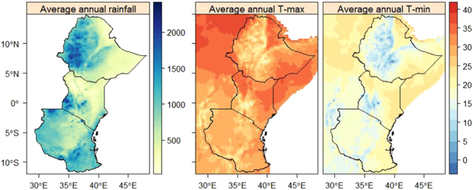 Long-term trends in rainfall and temperature using high-resolution