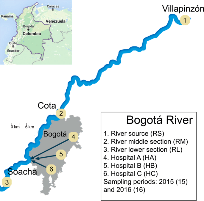 Bogotá River anthropogenic contamination alters microbial