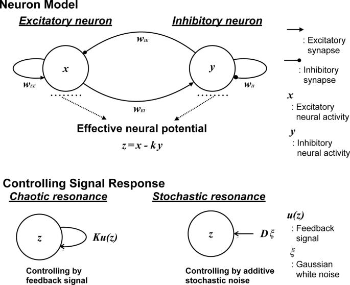 Resonance phenomena controlled by external feedback signals