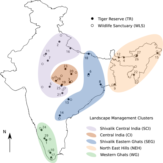 Extensive vegetation browning and drying in forests of India's Tiger Reserves