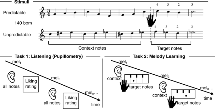 Music Predictability And Liking Enhance Pupil Dilation And Promote Motor Learning In Non Musicians Scientific Reports