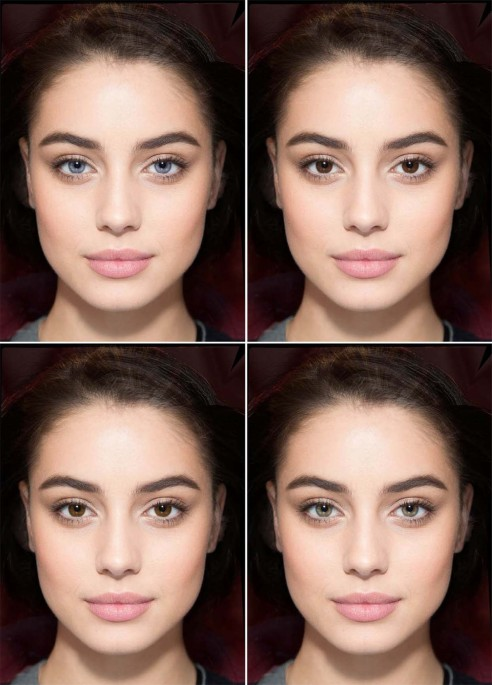 In humans, only attractive females fulfil their sexually imprinted preferences for eye colour