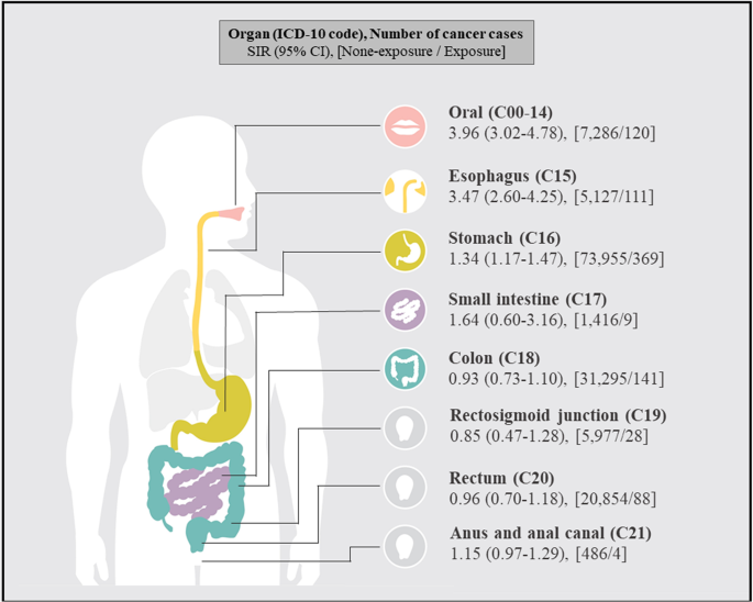 External Airborne Agent Exposure Increase Risk Of Digestive Tract Cancer Scientific Reports
