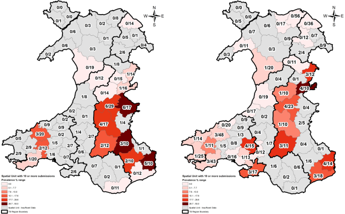 Temporal and spatial Mycobacterium bovis prevalence patterns as evidenced in the All Wales Badgers Found Dead (AWBFD) survey of infection 2014–2016