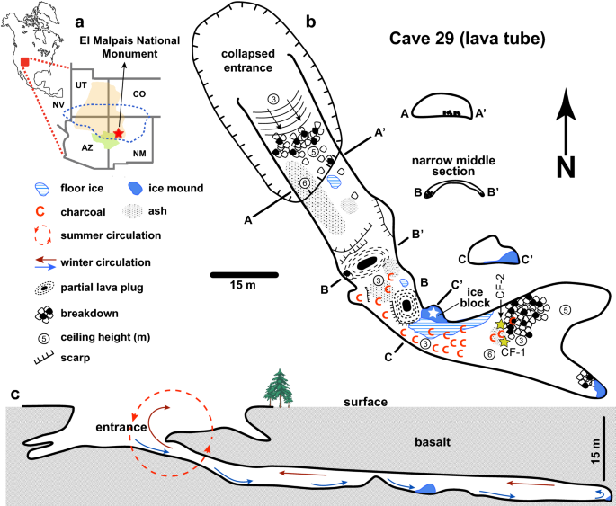 Late Holocene droughts and cave ice harvesting by Ancestral Puebloans