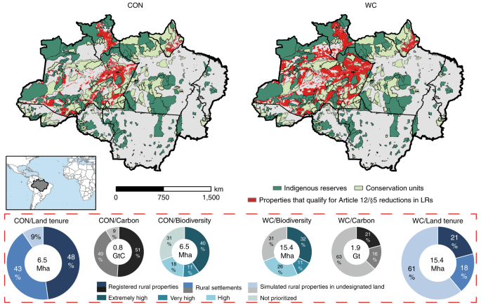 Potential increase of legal deforestation in Brazilian Amazon after