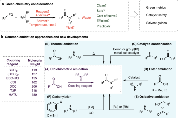 A green chemistry perspective on catalytic amide bond