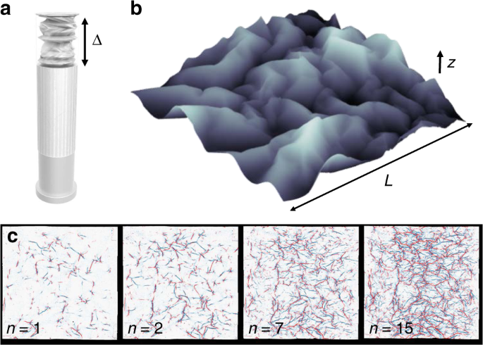 a state variable for crumpled thin sheets communications physics
