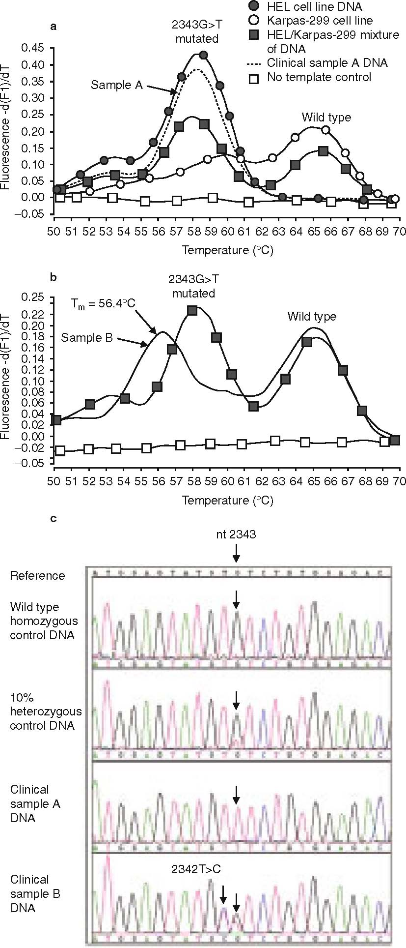 Detection Of Acquired Janus Kinase 2 V617f Mutation In Myeloproliferative Disorders By Fluorescence Melting Curve Analysis Springerlink