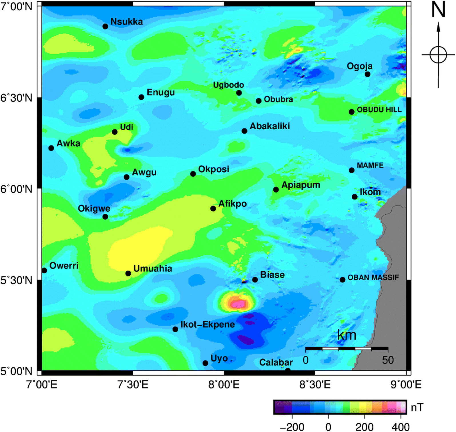 Geothermal Energy Reconnaissance of Southeastern Nigeria from