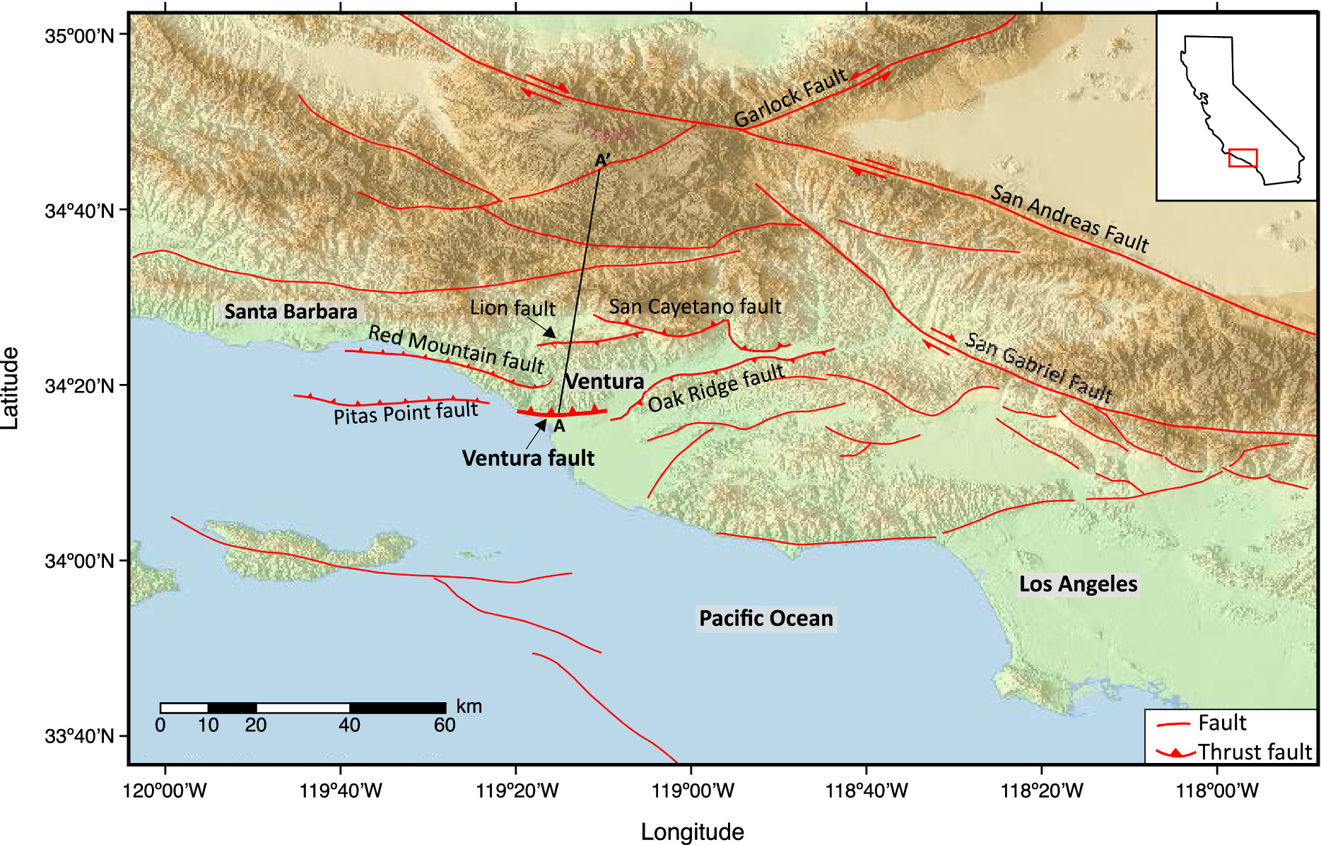 Physics-Based Scenario of Earthquake Cycles on the Ventura