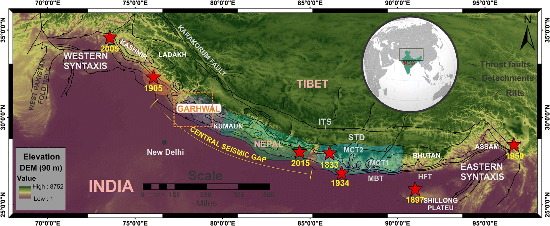 Earthquakes in the Garhwal Himalaya of the Central Seismic Gap: A