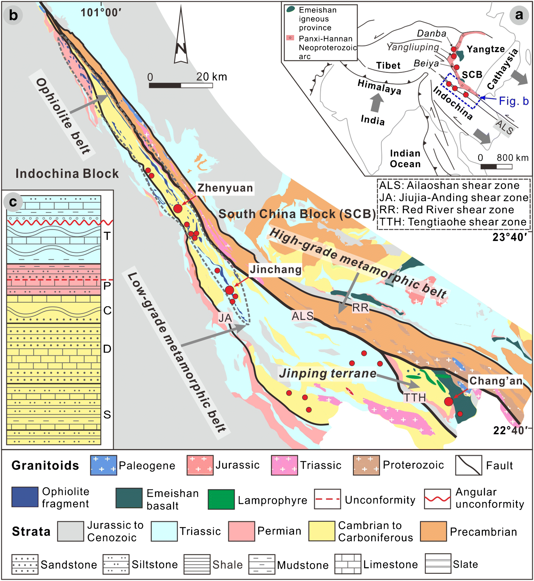 Evolution of the Miocene Ailaoshan orogenic gold deposits