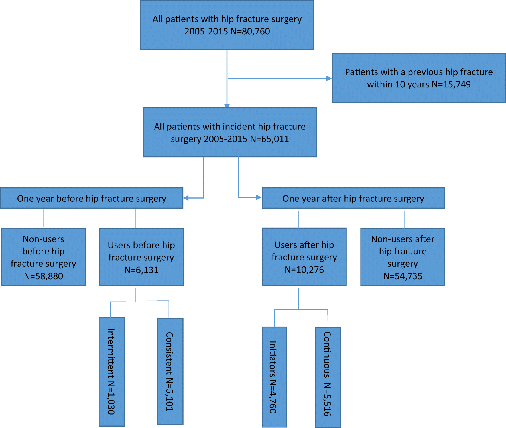 Use of anti-osteoporosis medication dispensing by patients