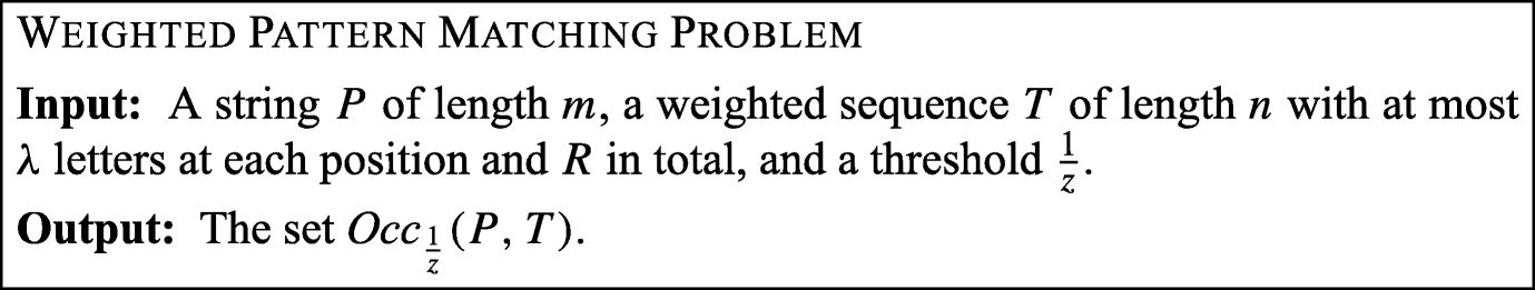 Pattern Matching and Consensus Problems on Weighted