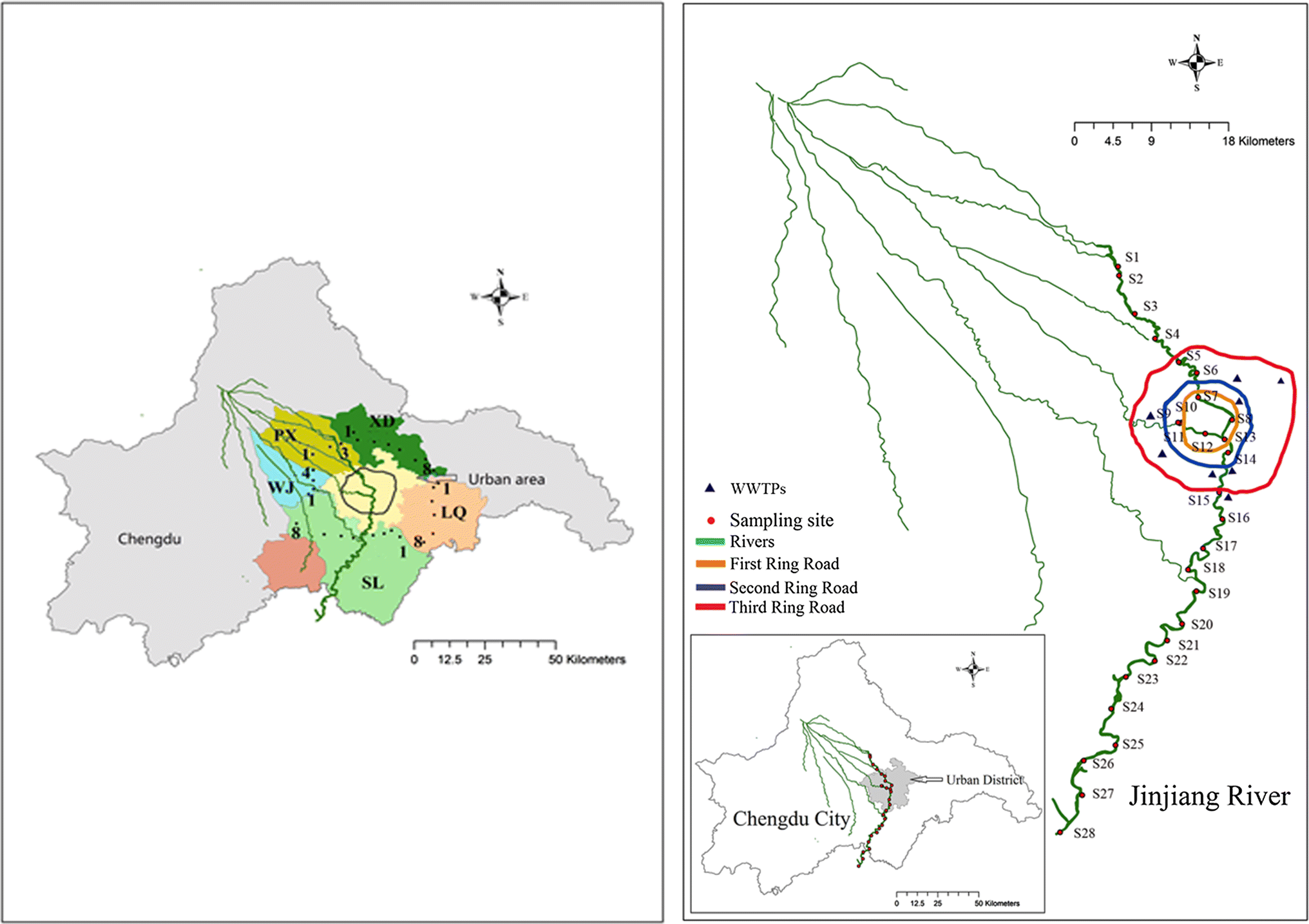 Spatial Distribution of Organophosphorus and Brominated Flame