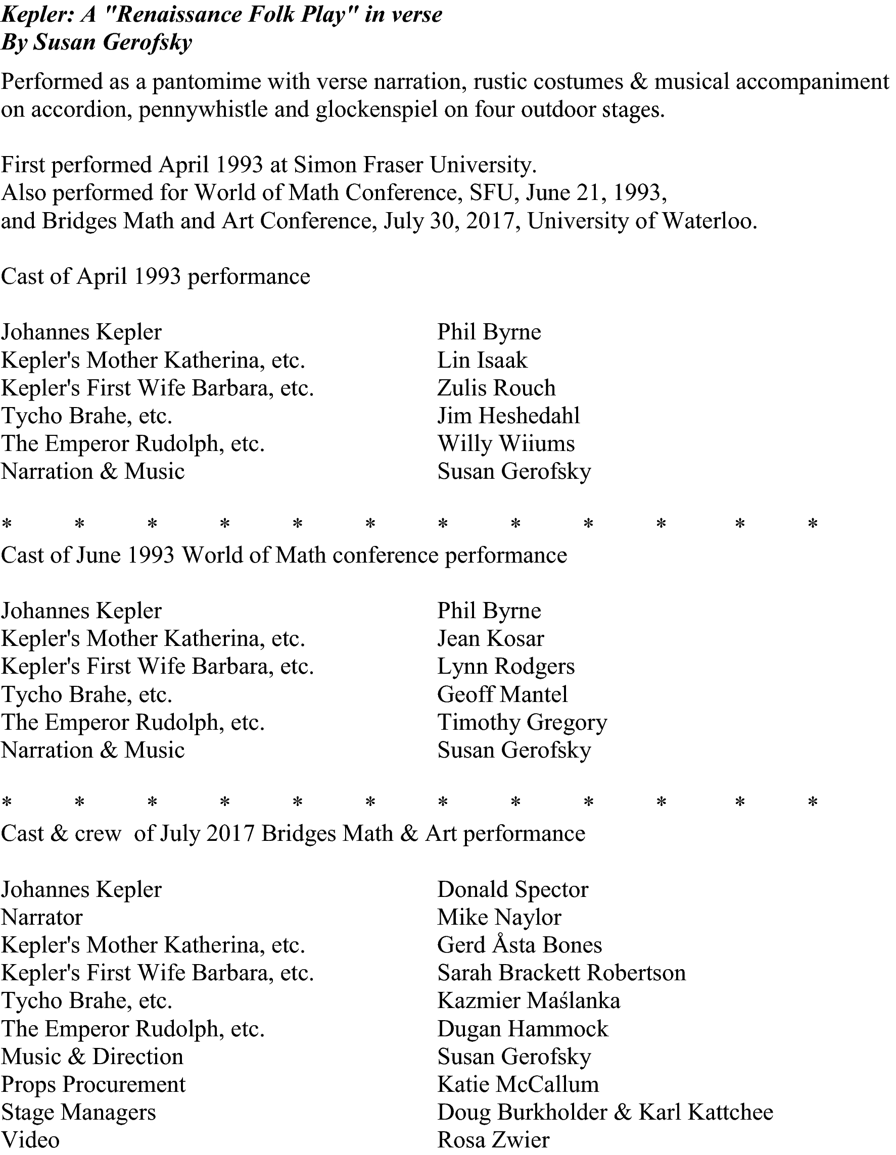 Approaching the History of Mathematics via the Performing