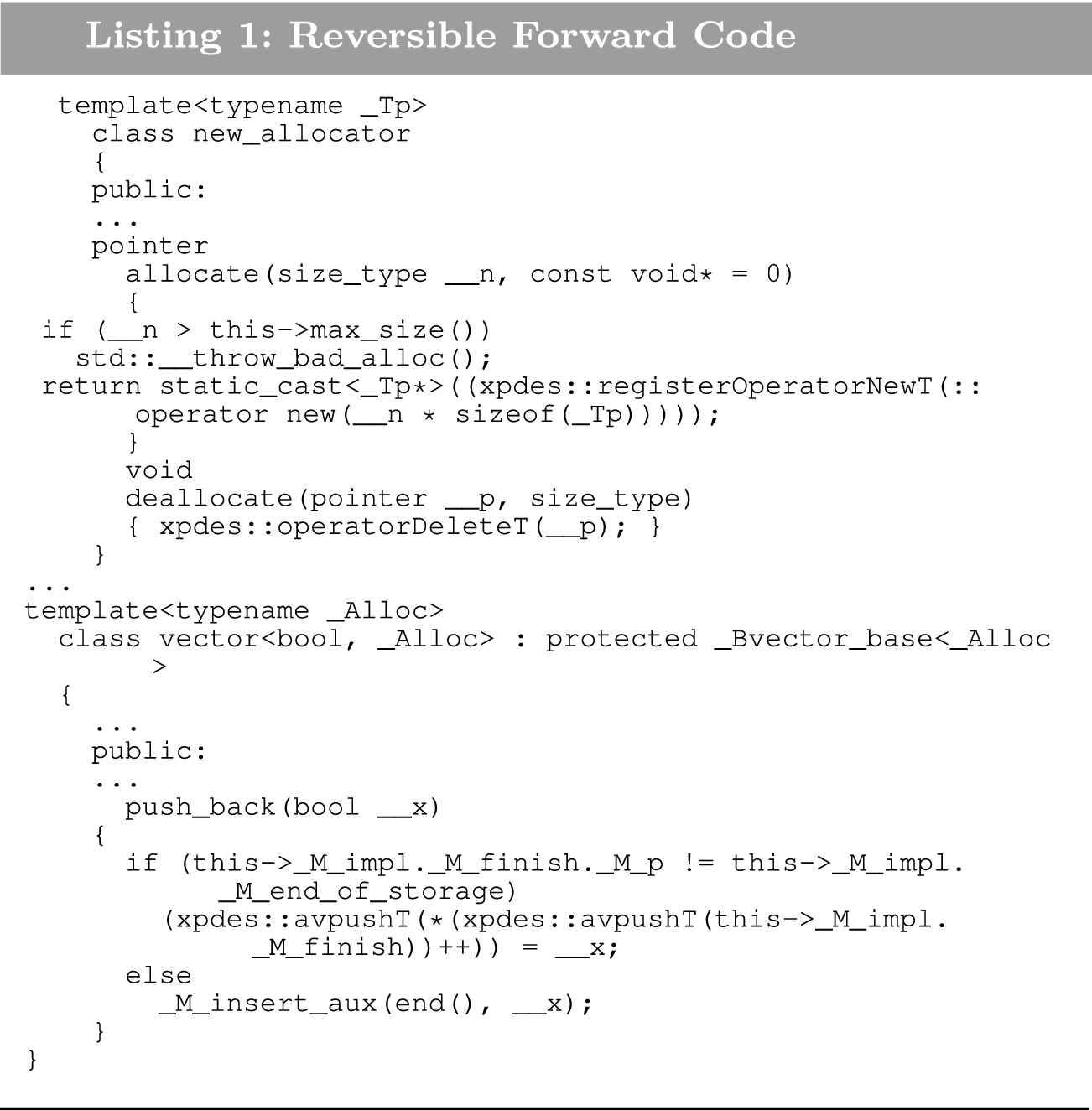 Generation of Reversible C++ Code for Optimistic Parallel