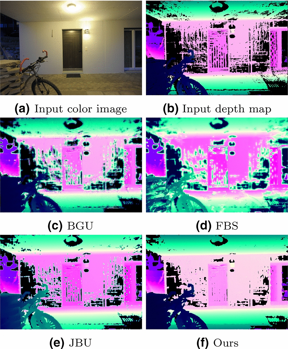 Joint bilateral propagation upsampling for unstructured multi-view