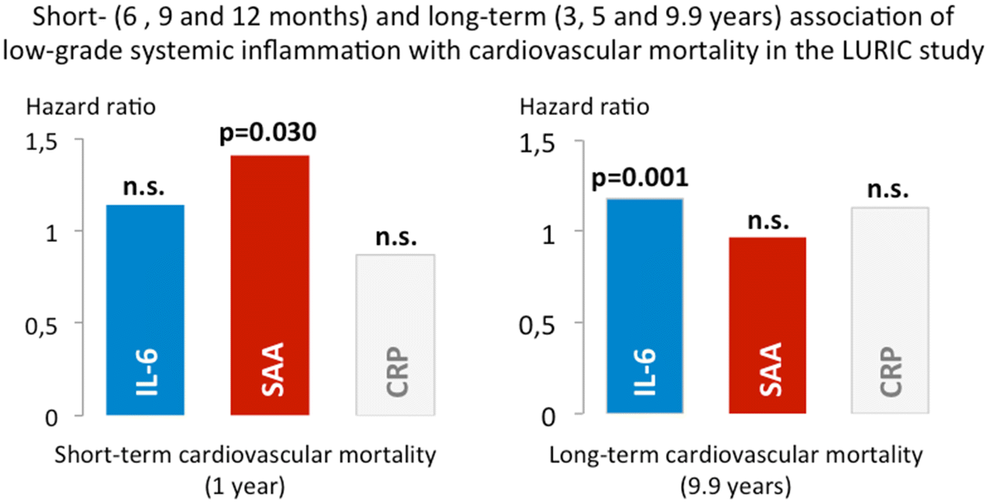 Long- and short-term association of low-grade systemic
