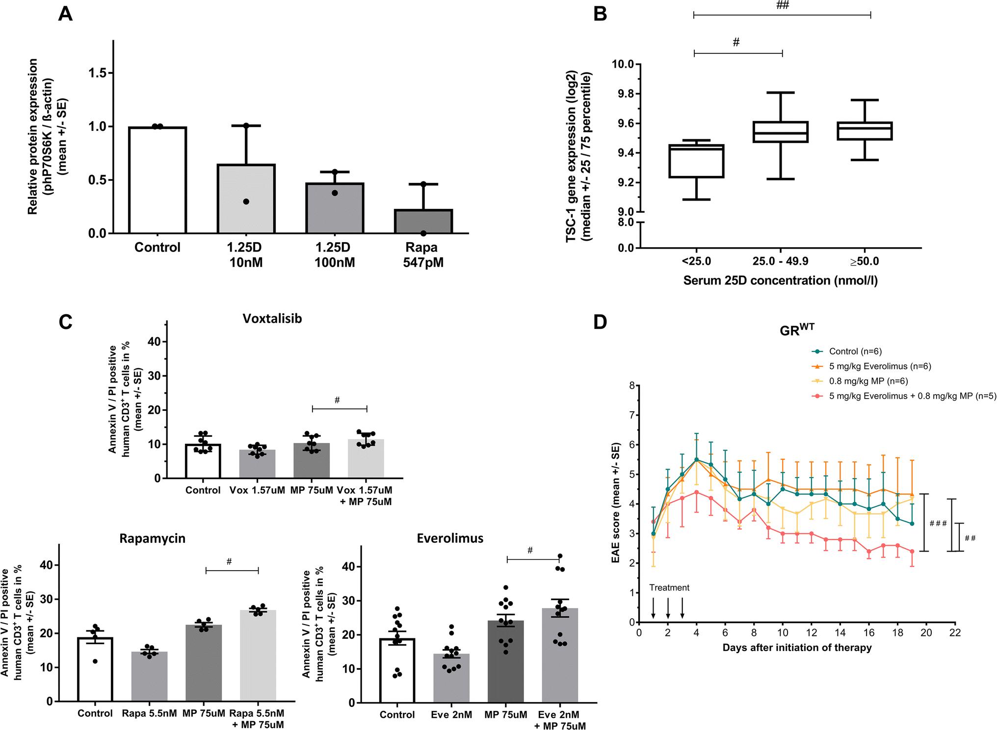 Vitamin D increases glucocorticoid efficacy via inhibition