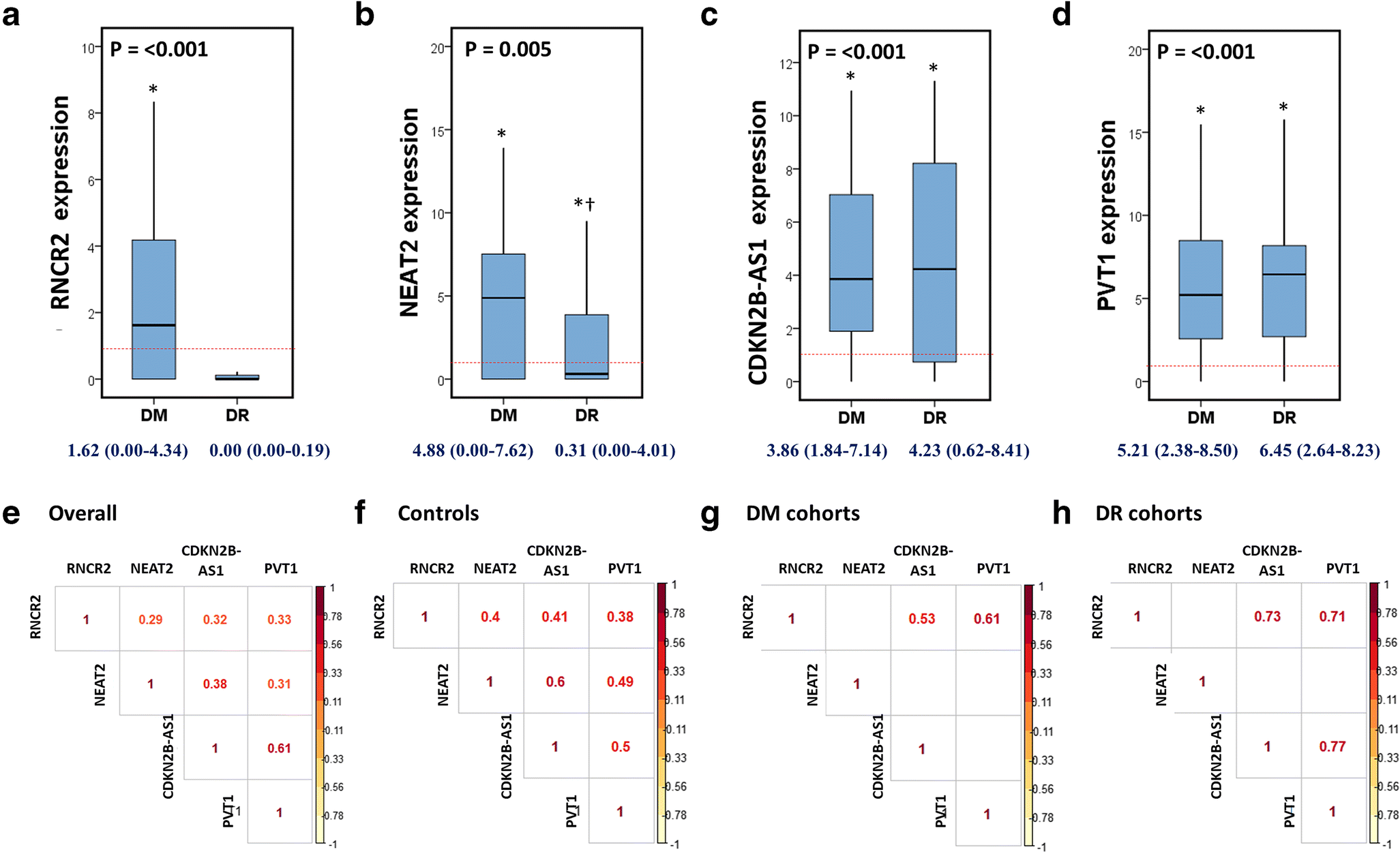 Deciphering the role of circulating lncRNAs: RNCR2, NEAT2